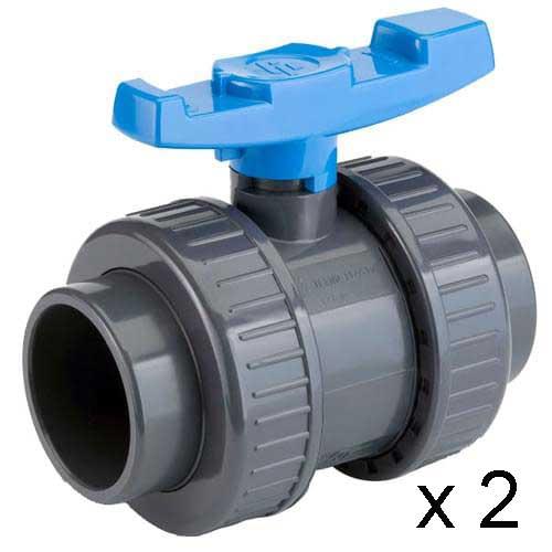 Vanne PVC PN16 Techno Plastic par 2