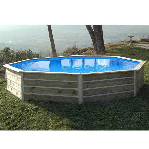 Piscine hors sol bois basilan x ht kit piscine for Piscine hors sol 4 60