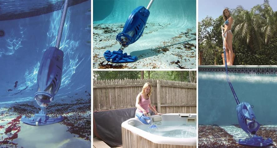 Aspirateur electrique pool blaster max balai aspirateur for Aspirateur piscine fonctionnement