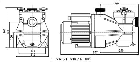 dimensions pompe vipool mcb