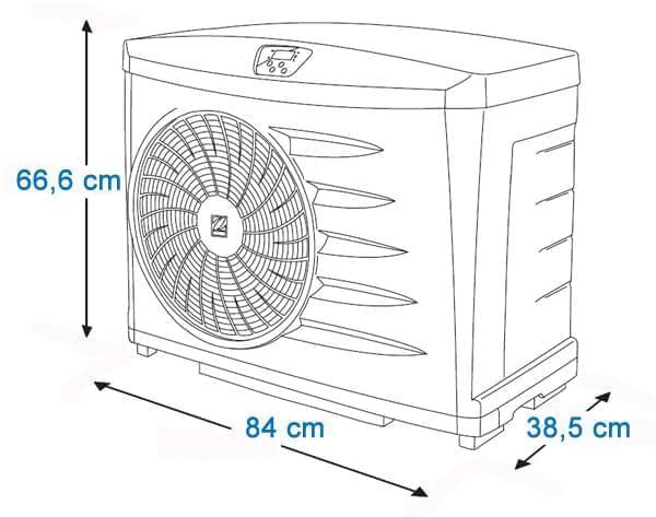 dimensions pompe à chaleur power zodiac