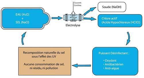fonctionnement electrolyseur de sel