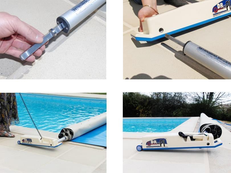 Enrouleur derouleur motorise droopi 2 accessoires et for Accessoire piscine ales