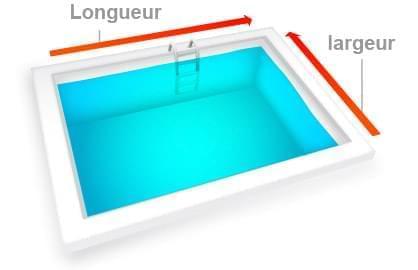 calcul volume piscine carree et rectangulaire