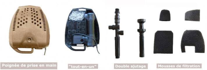 kit filtration evolia sub 4500 kit filtration bassin. Black Bedroom Furniture Sets. Home Design Ideas