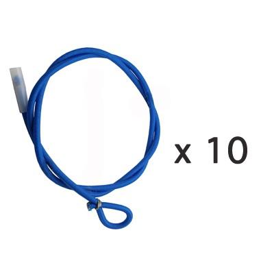 Tendeurs Cabiclic 1 boucle 1 emboût par 10 pour enrouleur de bâche