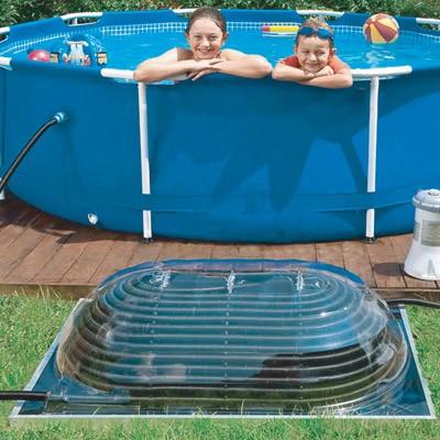 Chauffage solaire hors sol maxi d me kit chauffage solaire piscine piscin ale - Dome piscine hors sol ...