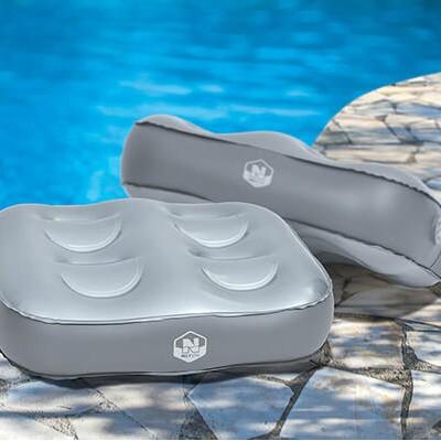 Coussins r hausseur netspa pour spa par 2 accessoires for Accessoire piscine ales
