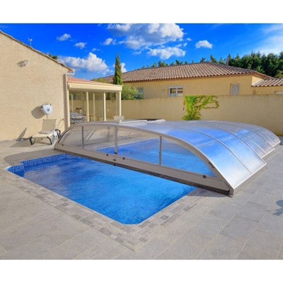 abri de piscine t lescopique abris piscine piscin ale. Black Bedroom Furniture Sets. Home Design Ideas
