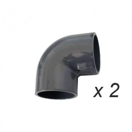 Coude 90° PVC par 2
