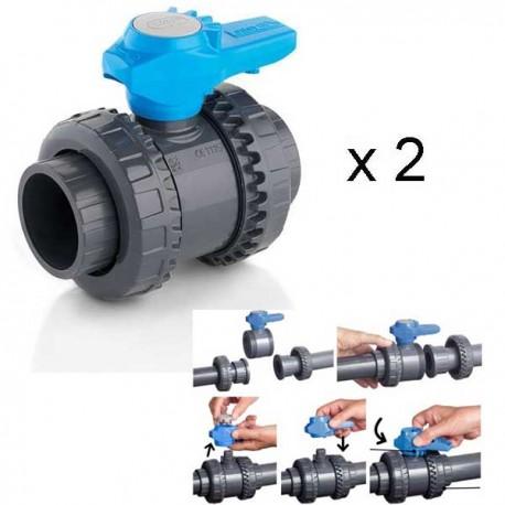 Vanne Easyfit PVC par 2