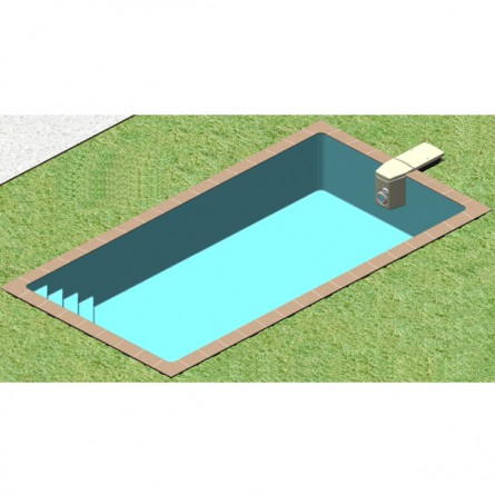 vision 3D de l'installation d'un kit de piscine