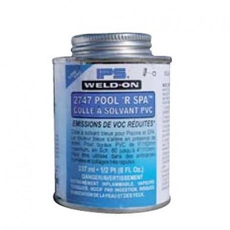 Colle bleue pour tuyau PVC flexible et rigide