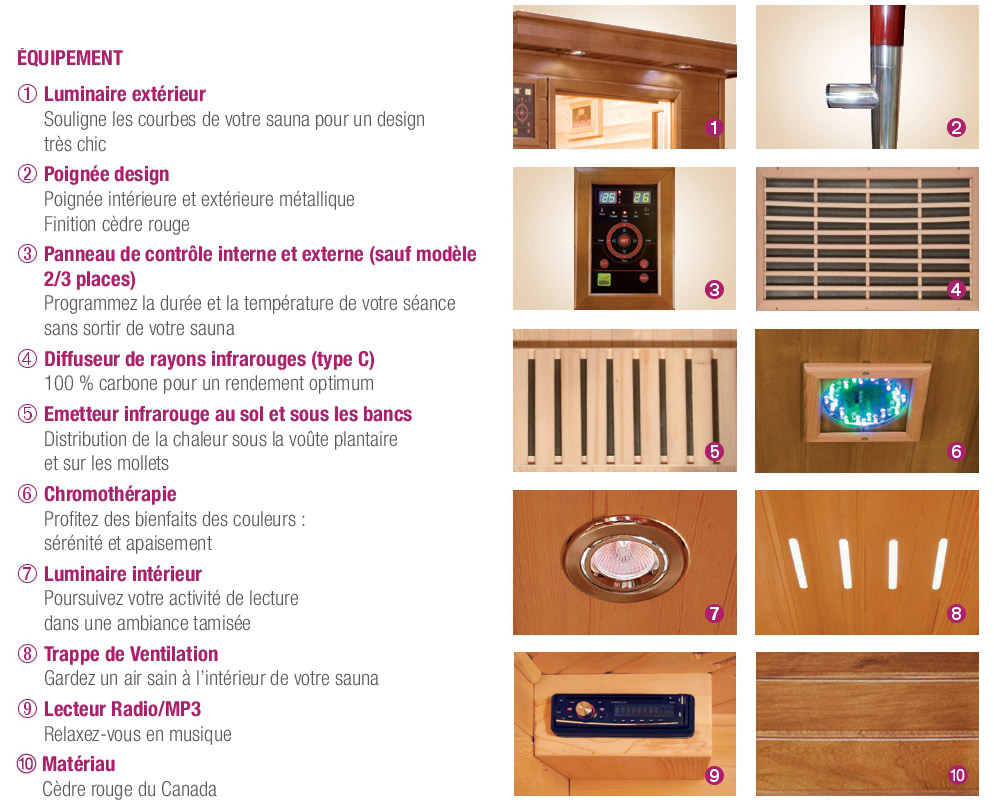 comment choisir un sauna infrarouge piscin ale. Black Bedroom Furniture Sets. Home Design Ideas